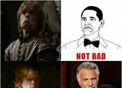 Enlace a NUNCA hubieras imaginado como Tyrion de Juego de Tronos podría ser la inspiración de todos los memes