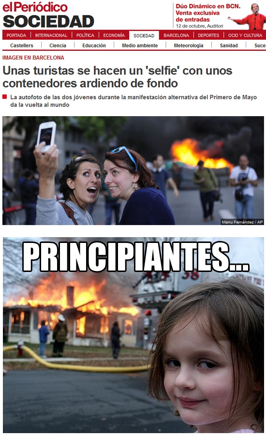 Meme_otros - Disaster tourists el primero de mayo