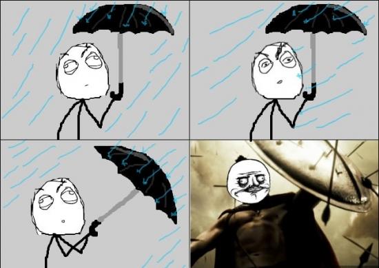 Me_gusta - Protegiéndote de la lluvia. ASÍ es como debería ser siempre, ¡ESTO ES... MI PARAGUAS!