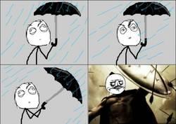Enlace a Protegiéndote de la lluvia. ASÍ es como debería ser siempre, ¡ESTO ES... MI PARAGUAS!