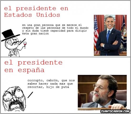 Ffffuuuuuuuuuu - A Rajoy NO le gustará esta viñeta. A Obama seguramente sí