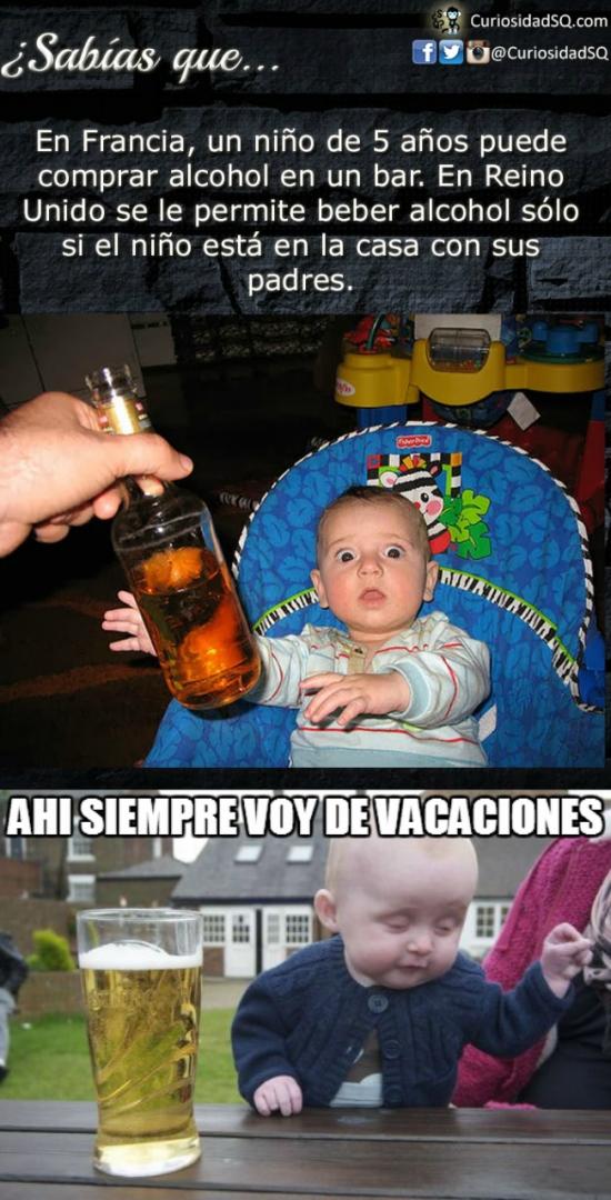 Bebe_borracho - Ya sabemos dónde va de vacaciones nuestro amigo el bebé