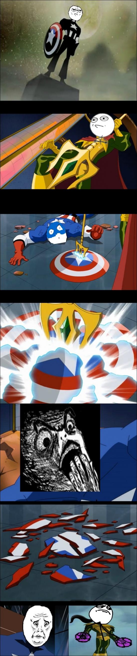 Mix - ¿El escudo del Capitán América indestructible? Loki tiene una opinión diferente