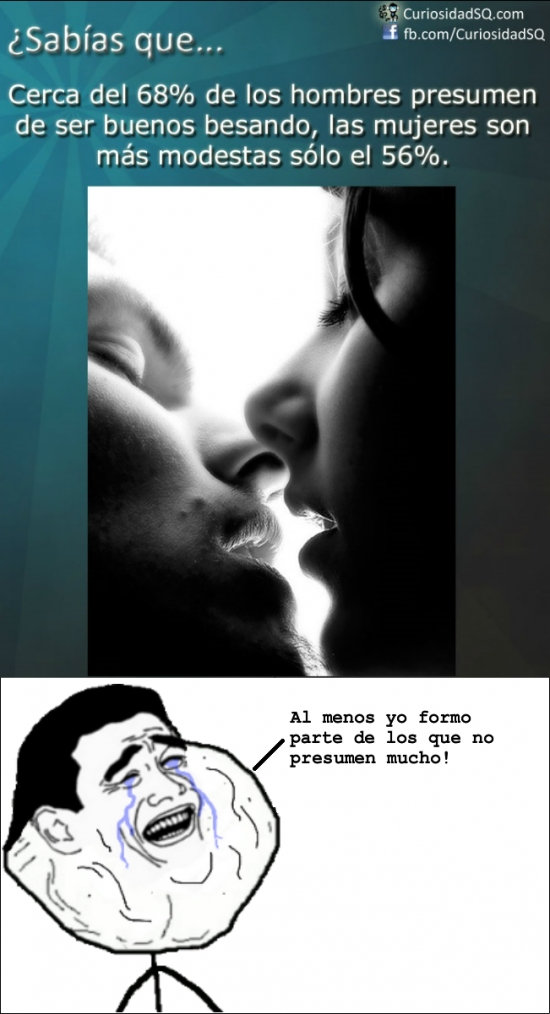 Forever_alone - La poca modestia de los hombres cuando les preguntan por su habilidad besadora