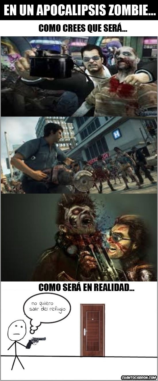 Pokerface - Todo el mundo con muchas ganas de un apocalipsis zombie, pero luego habría que ver qué pasa