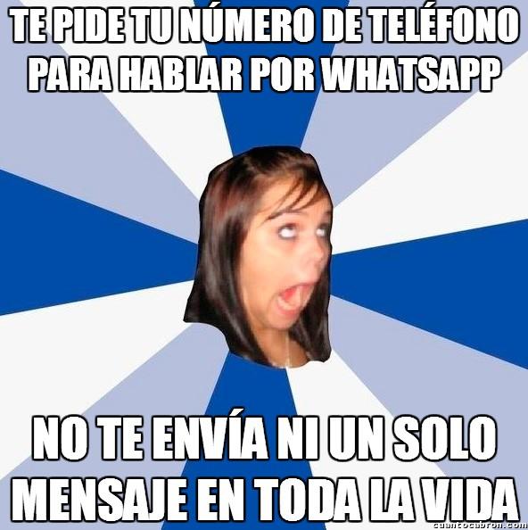 Amiga_facebook_molesta - No sé si está esperando a que le hable yo o que le gusta coleccionar teléfonos de tíos...