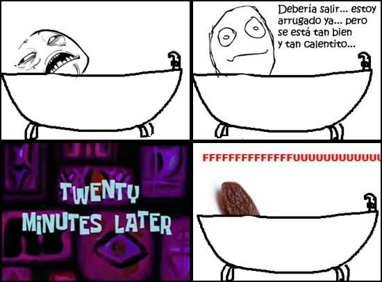 Ffffuuuuuuuuuu - Lo malo de darte un buen baño caliente demasiado largo