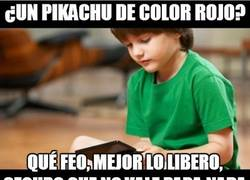 Enlace a ¿Un Pikachu de color rojo?