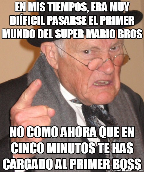 En_mis_tiempos - La evolución de la dificultad en los Super Mario