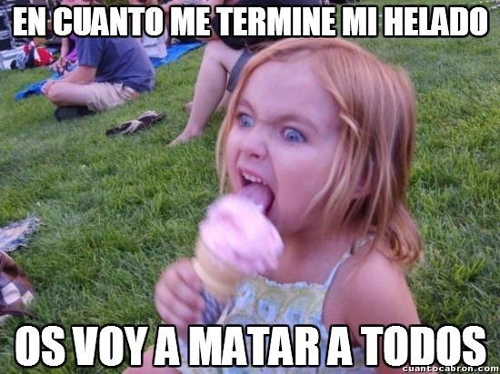 Meme_otros - La niña psicópata del helado