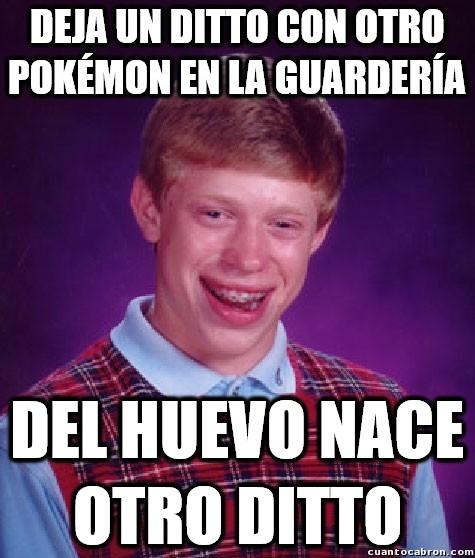 Bad_luck_brian - El proceso de cría Pokémon sólo podía salirle mal a él