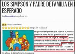 Enlace a Los Simpson y Padre de Familia, por fin harán un episodio juntos