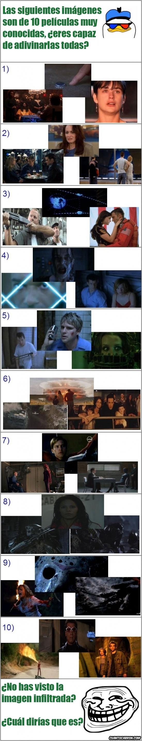 Trollface - ¿Eres capaz de reconocer estas películas sólo con 3 imágenes?