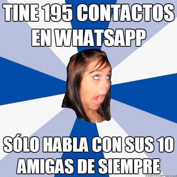 Amiga_facebook_molesta - Exceso de contactos en todos los servicios de chat