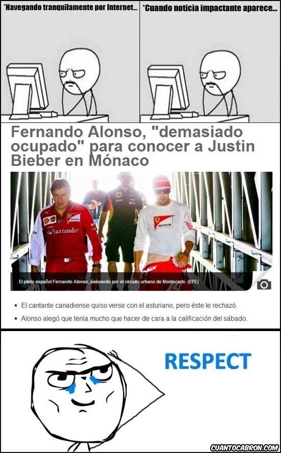 Otros - Mis respetos a Fernando Alonso