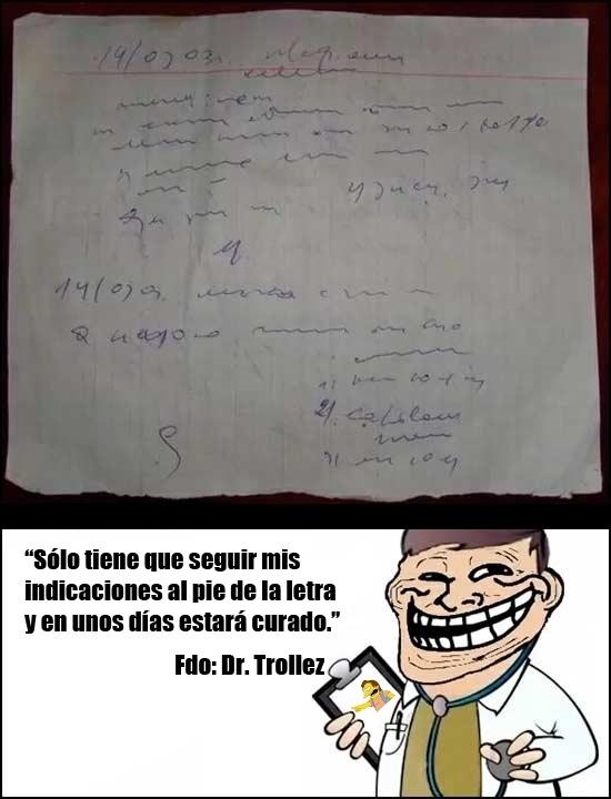 Trollface - Médicos que saben qué hacer para que te cures