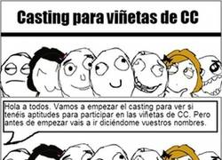 Enlace a En el casting para ser personaje de viñetas de CC