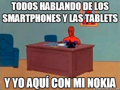 Spiderman60s - Todos hablando de los smartphones y las tablets