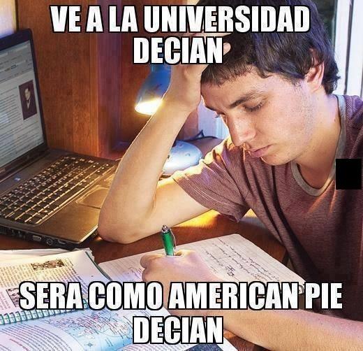 Meme_otros - La cruda realidad de la universidad