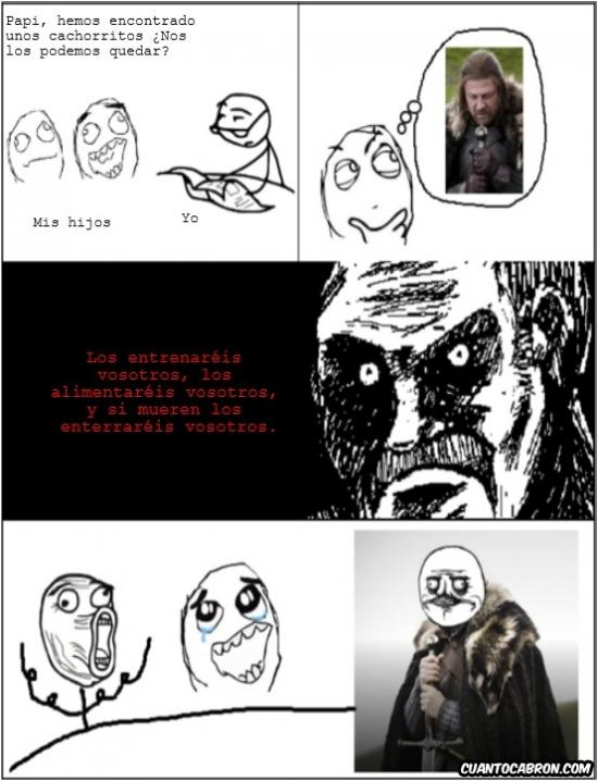 Me_gusta - Ned Stark es un gran ejemplo de padre