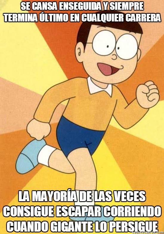 Meme_otros - Nobita y su poca fuerza de voluntad