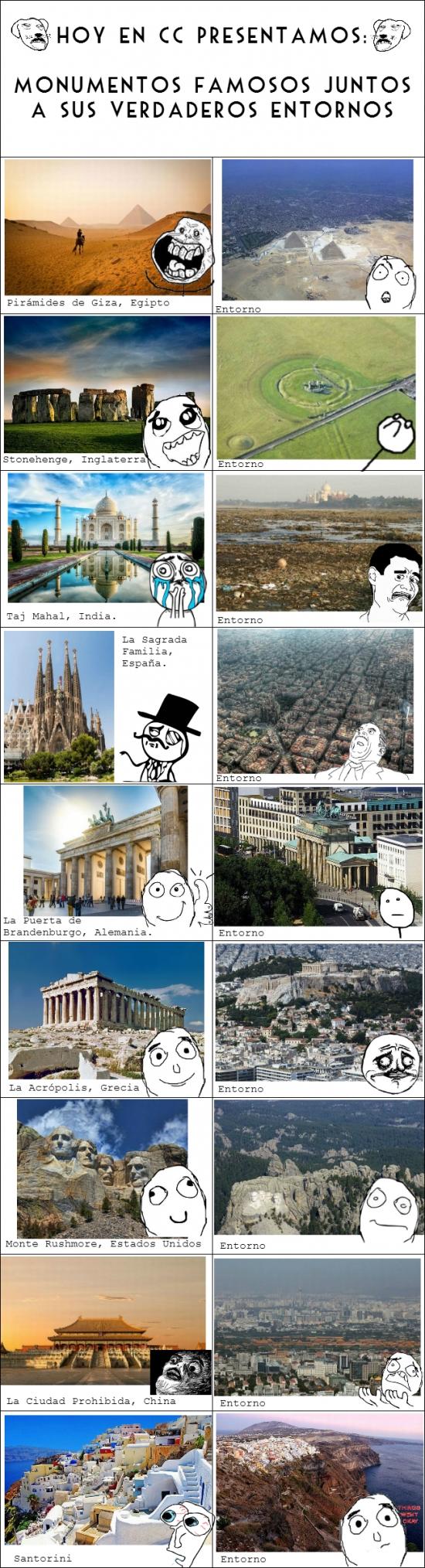 Mix - Los grandes monumentos del mundo pierden mucho si se ven junto a su entorno