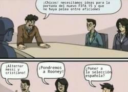 Enlace a En las oficinas de EA, discutiendo sobre FIFA...
