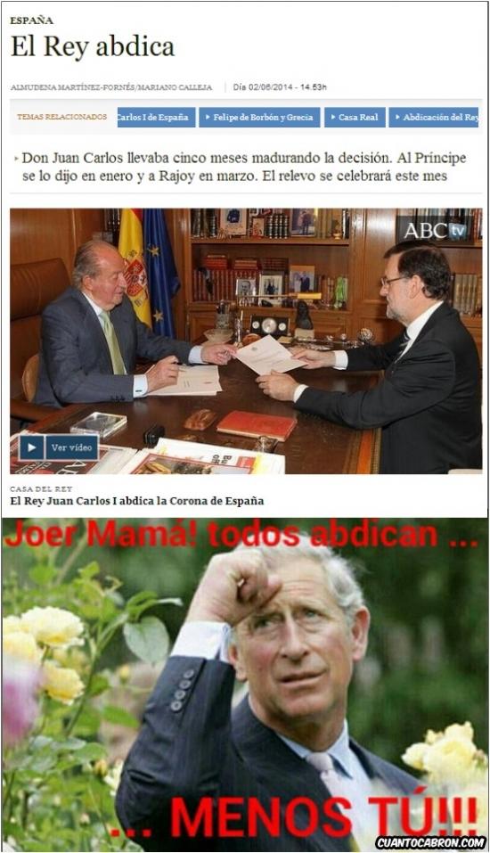 Otros - El que abdica es el rey Juan Carlos, ¿eh? Sólo él...