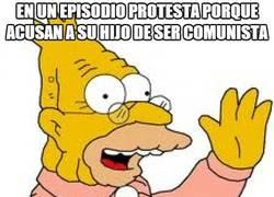 Enlace a Abuelo Simpson comunista y anti-comunista