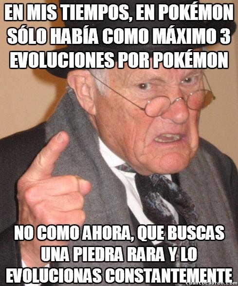 En_mis_tiempos - Las evoluciones Pokémon ya no son como antes