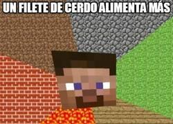 Enlace a Es que el cerdo es muy nutritivo en Minecraft