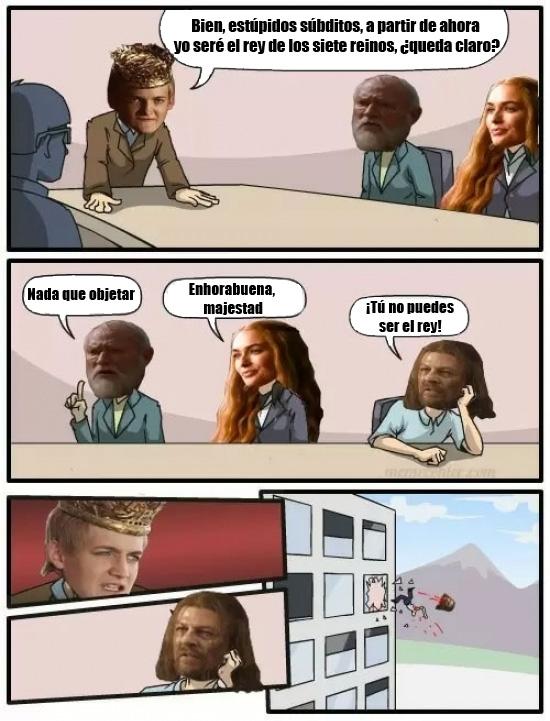 Otros - Joffrey nunca sería un rey aceptado por un Stark