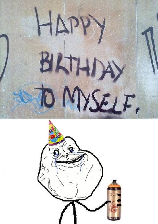 Forever_alone - Forever alone celebrando su cumple