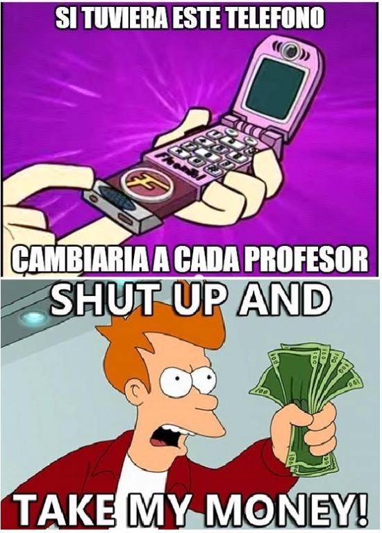 Meme_fry - ¡Yo quiero ese teléfono!