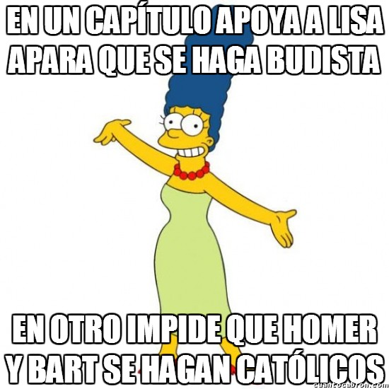 Meme_otros - La coherencia religiosa de Marge Simpson