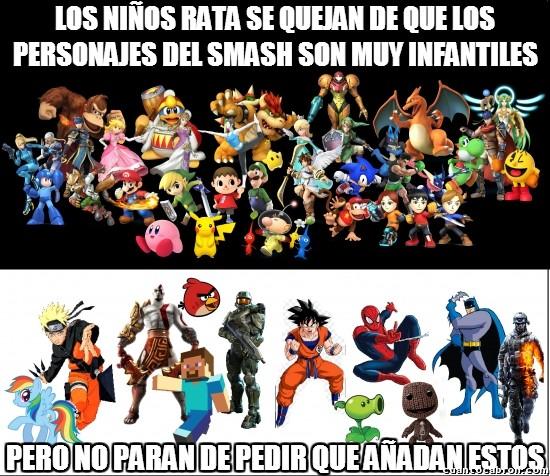 Meme_otros - La cuestión es pedir por pedir hasta en el Smash Bros