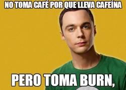 Enlace a Sheldon Cooper y la cafeína