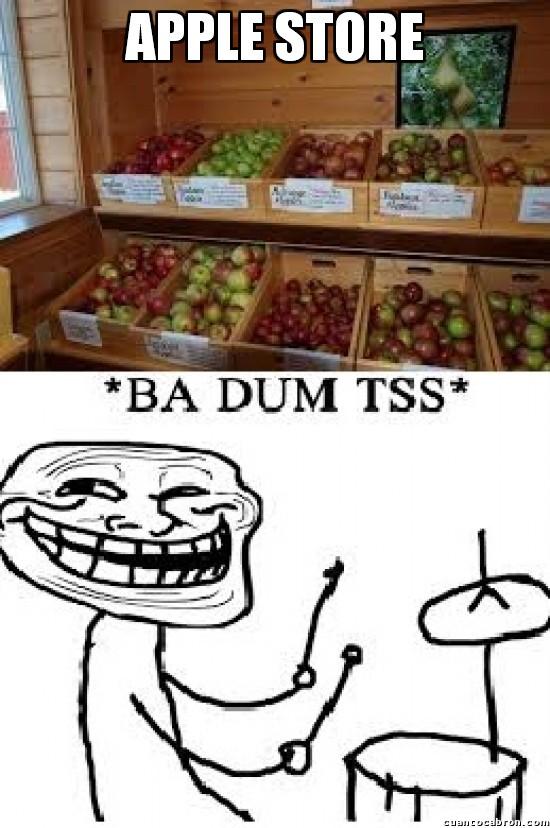 Trollface - Voy a ver qué hay de nuevo en la apple store