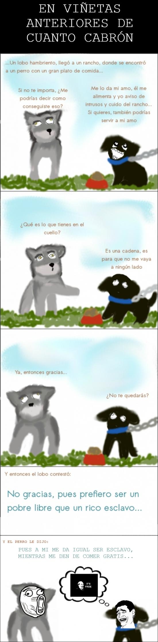 Its_free - La historia paralela de la fábula del perro y el lobo