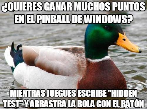 Pato_consejero - Cómo ganar al Pinball de Windows