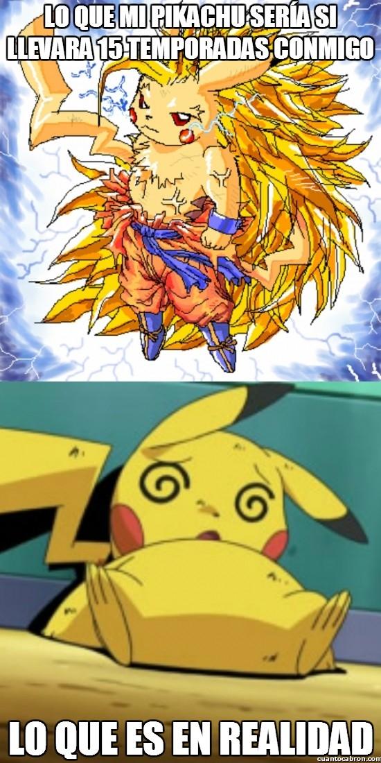 Meme_otros - Lo que sería Pikachu si lo entrenase yo