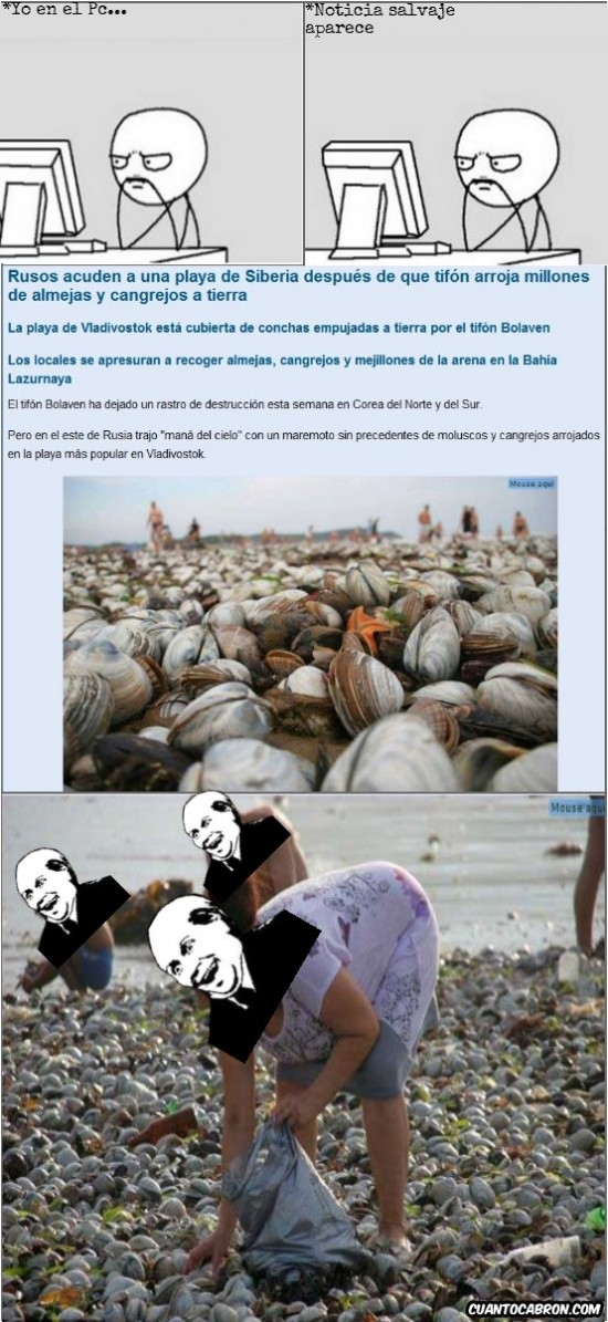 Its_free - Mariscada gratis para los rusos cortesía de la madre naturaleza