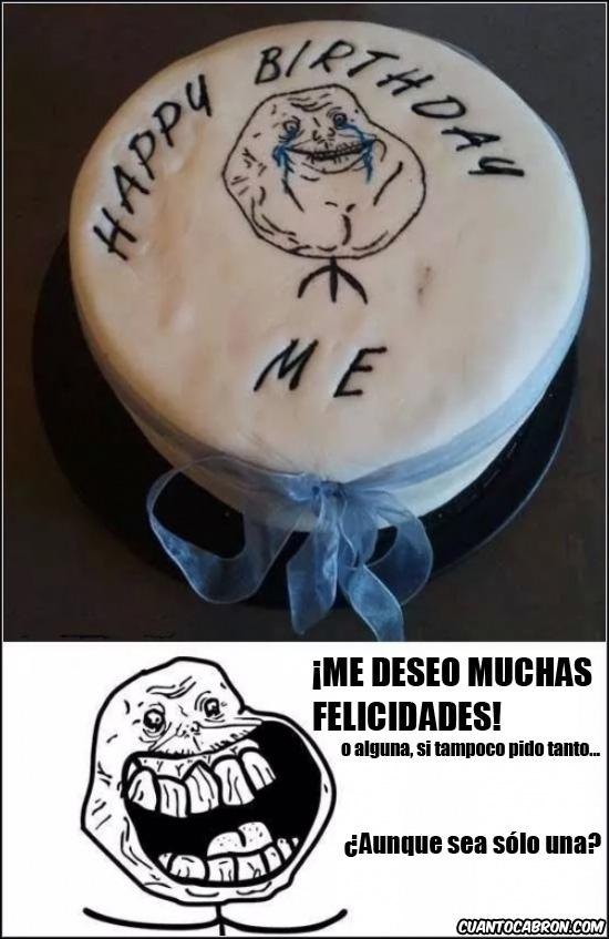 Forever_alone - Auto-pastel de cumpleaños