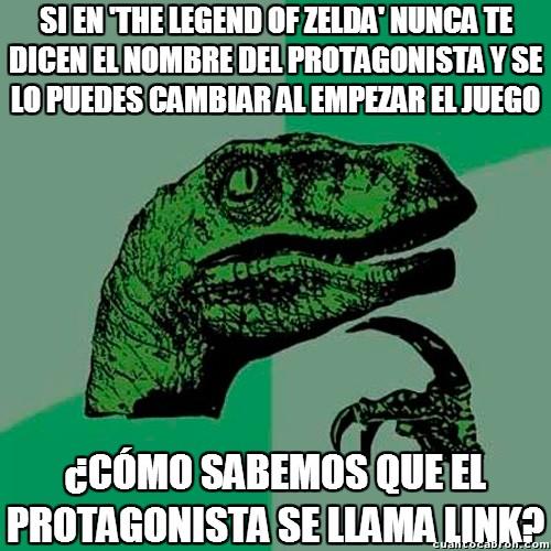 Philosoraptor - ¿De dónde habrá salido el nombre de Link?
