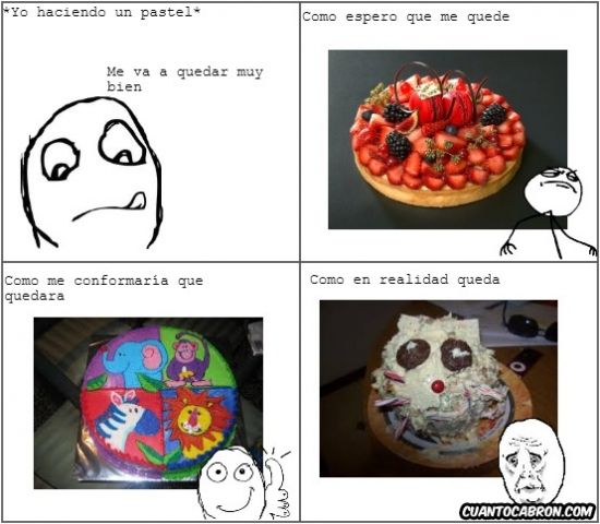 Okay - La realidad al hacer un pastel