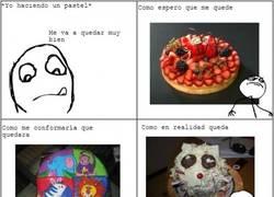 Enlace a La realidad al hacer un pastel