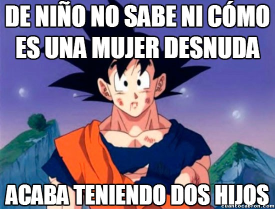 Son_goku - O Goku aprende muy rápido las cosas o le engañaron pero bien...