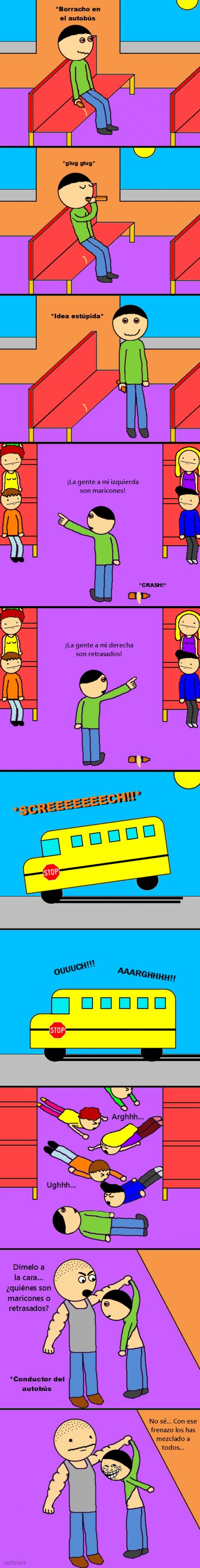 Trollface - Borracho en el bus