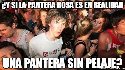 Momento_lucidez - ¿Sabes por qué la Pantera Rosa es de ese color?