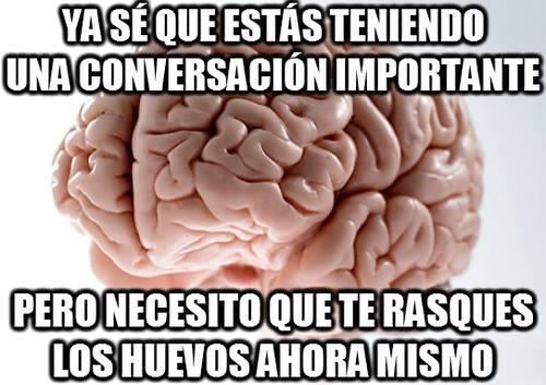 Cerebro_troll - Es que no sería el mejor momento para rascarme ahora, cerebro estúpido